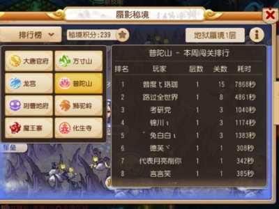 """梦幻西游""""手游""""地狱蜃影秘境1-15关阵容推荐 梦幻西游手游秘境15"""
