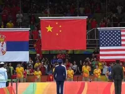 奥运女排颁奖升错误国旗 奥运颁奖